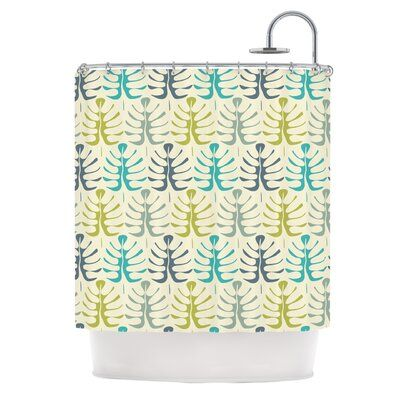 East Urban Home My Leaves von Julia Grifol Duschvorhang   – Products