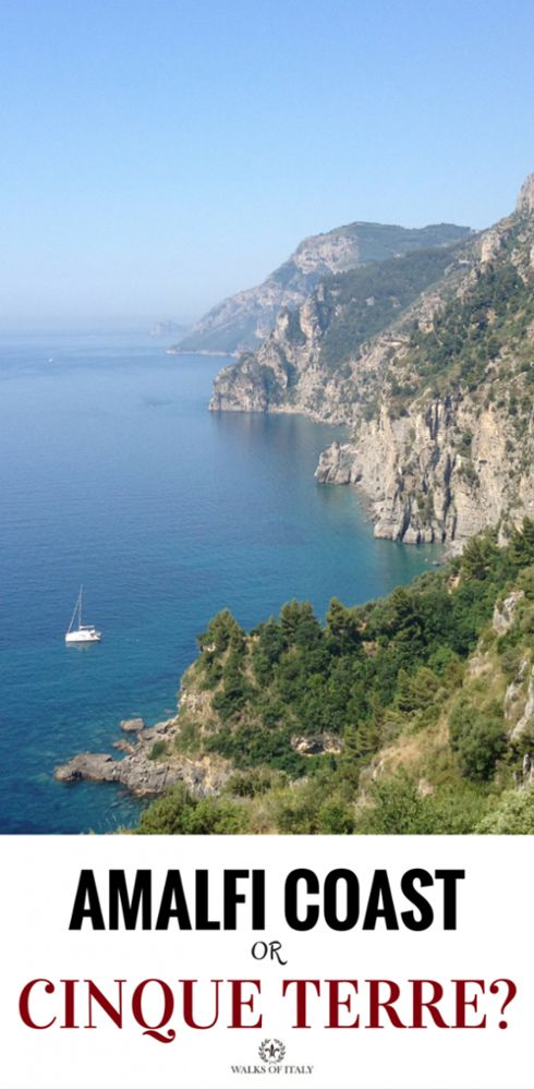 the beautiful blue waters and stunning cliffs of the Amalfi Coast and the Cinque Terre attract countless visitors each year. Here's how to decide between them