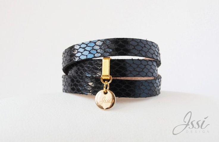 BLACK SNAKE BELT (proj. Issi design), bracelet