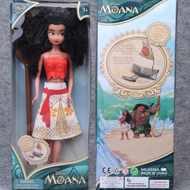 "Movie Moana 11"" Classic Princess Doll Collection Figure Disney store Girls Toy"