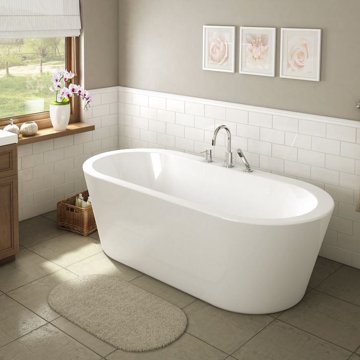 1000 ideas about bathtub redo on pinterest brick ranch for Best freestanding tub material