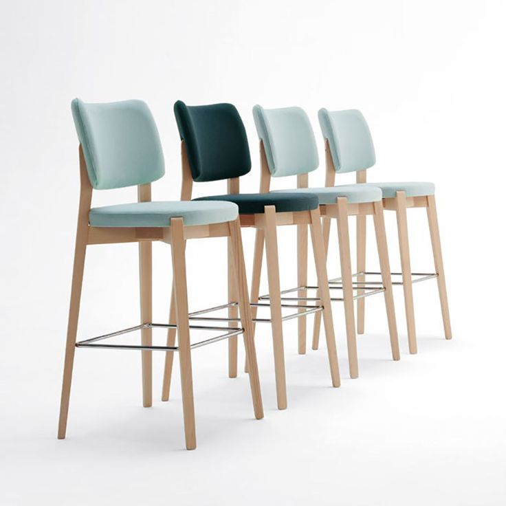 Dixie | Sandler Seating. Upholstered barstool/counter stool on a solid wood frame.