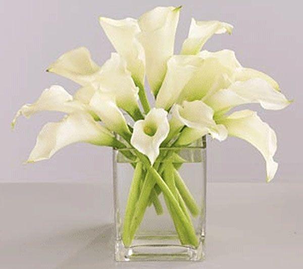 Silk Square Scarf - lillies in a vase-2 by VIDA VIDA SIS8W