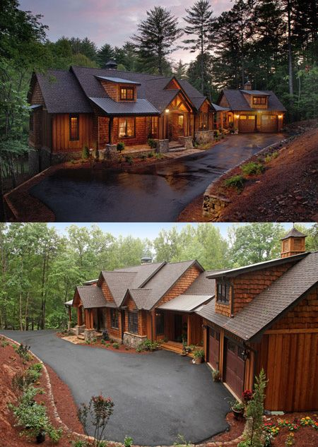 Architectural Designs Rugged House Plan 24111BG gives you over 4,900 square feet of living and 4 beds. Designed for a sloping lot like this one in Georgia. Ready when you are. Where do YOU want to build?