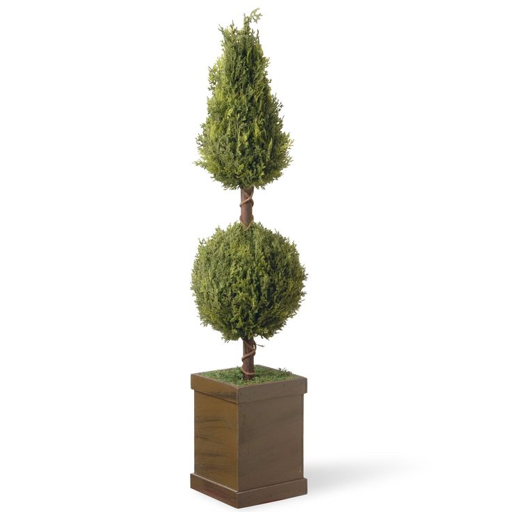 National Tree Company 47-inch Cone and Ball Topiary Tree (Green)