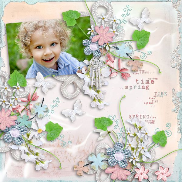"""Welcome Spring"" Collection by MiSi Scrap  http://www.digiscrapbooking.ch/shop/index.php?main_page=product_info&cPath=22_225&products_id=21212  RAK for a friend"