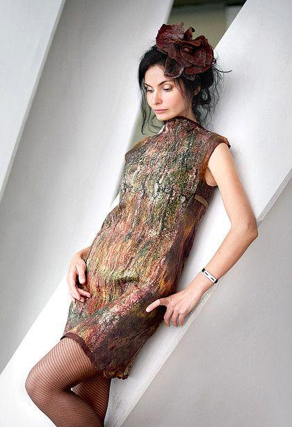 """платье """"Kenya Sunset"""" - авторское платье,Ирина Левкович,африка,хаки,шерсть"""