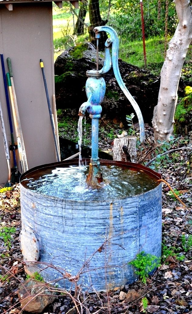 15 best images about hand pump water feature on pinterest for How to make an outdoor fountain