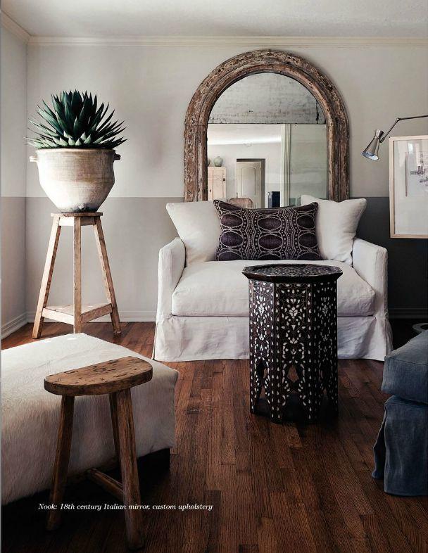 wow factor! large sculptural plant in huge pot elevated on stool... megan megas at home.. – Greige Design