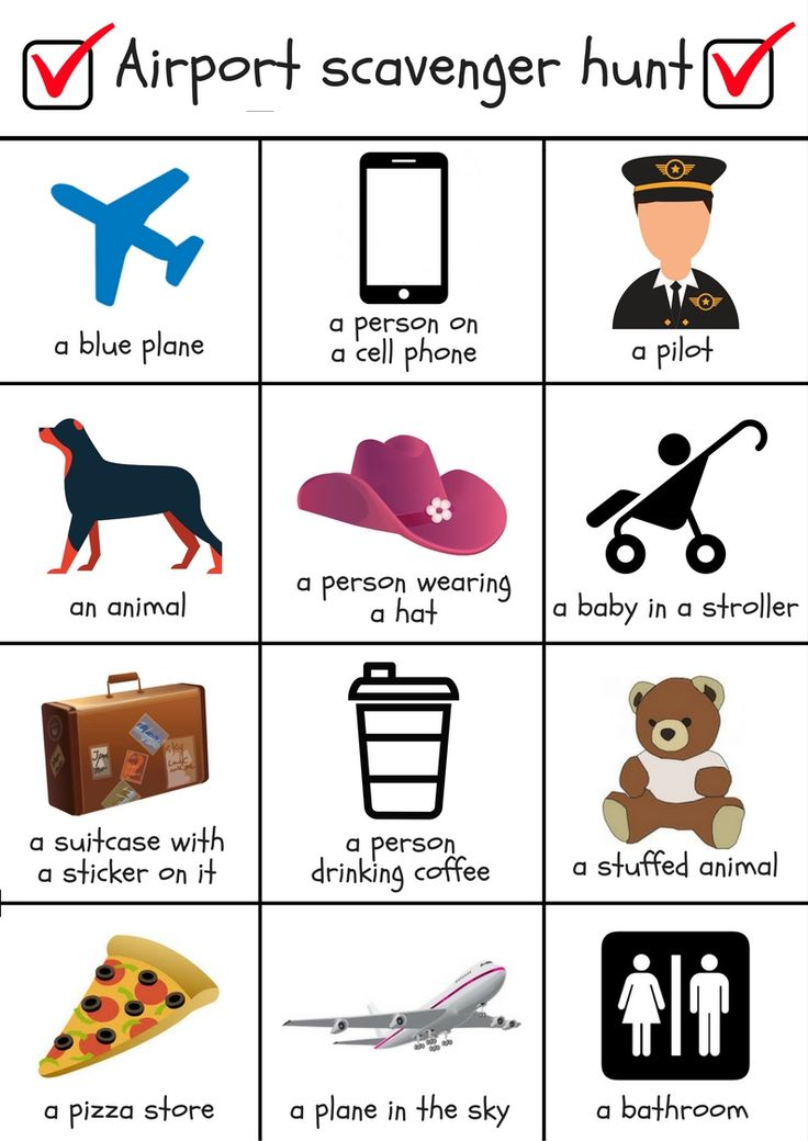 Airport scavenger hunt | Flying with kids | Travel with kids