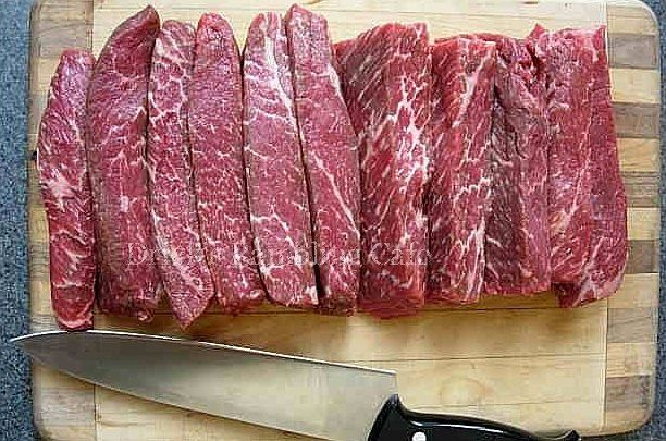 boneless ribs prior to long, low heat cooking   Tender, moist and tasty   Not to be confused with Beef Short Ribs, Boneless Short Ribs  a...