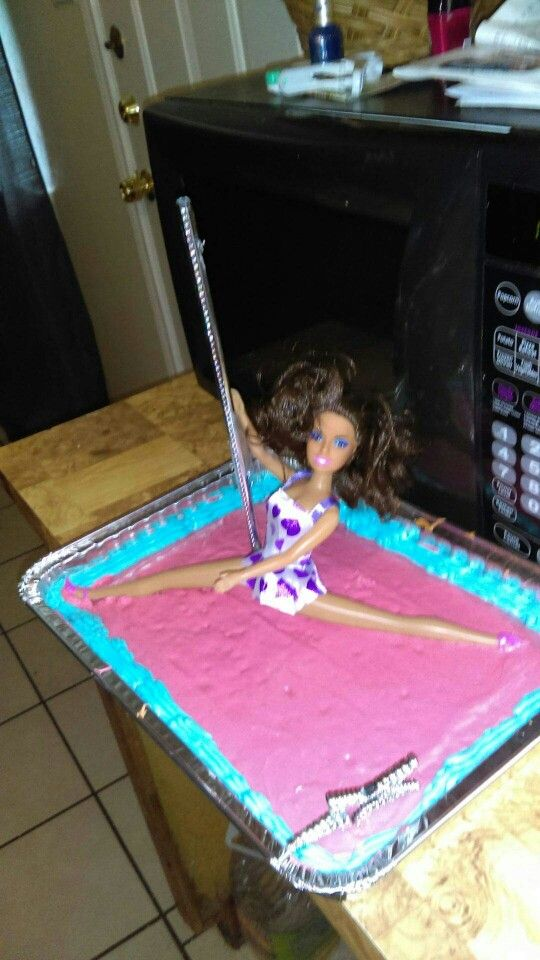 Stripper cake i made for hubbys birthday