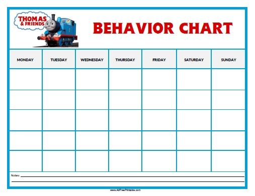 Free Printable Thomas Tank Engine Behavior Chart Mr