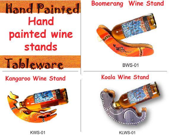 Australian Aboriginal Art Wine Stand by AboriginalOzArt on Etsy