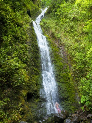 Lulumahu Falls, Lulumahu Valley, Nuuanau, Oahu, Hawaii. #waterfall #oahu #hawaii
