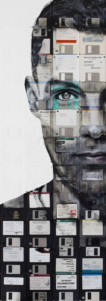 """Self Portrait 4"" by Nick Gentry, 2014"