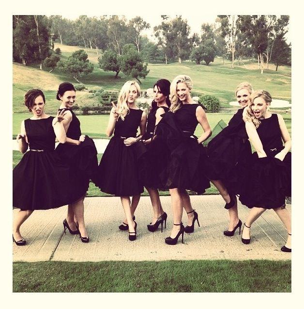 Non Traditional Bridesmaids #black