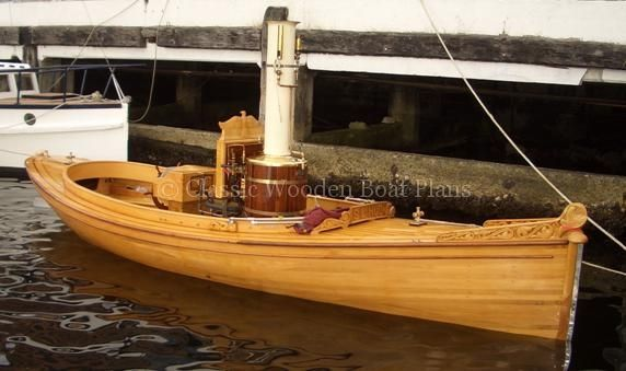 Classic Wooden Motor Launch | ... . We used common lines ...
