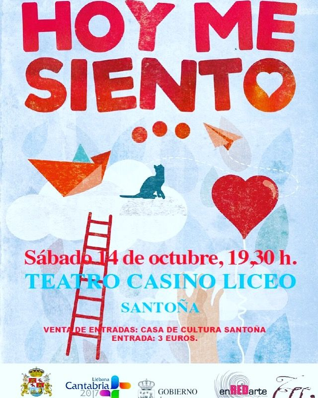 Teatro para los más pequeños este sábado 14 a las 19.30h en el Teatro Casino Liceo. Entradas en la Casa de Cultura. #planesconniños #planesenfamilia #santoñaescultura #santoñateespera