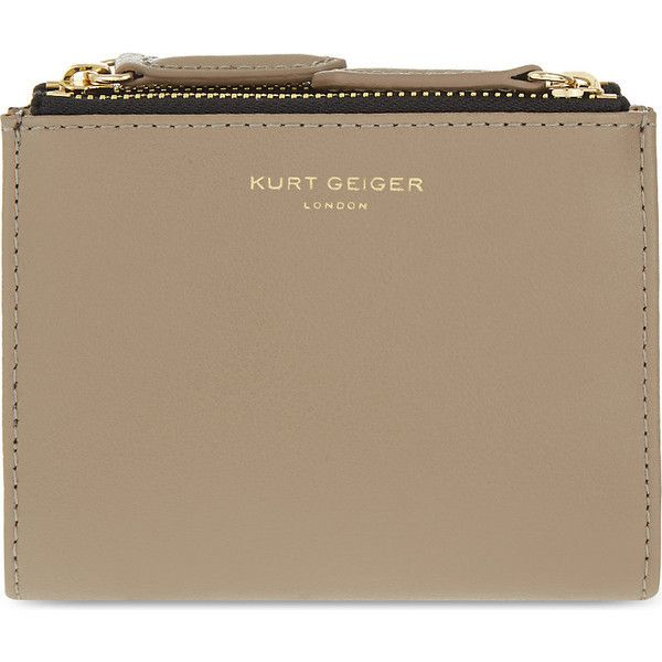 Kurt Geiger London Mini smooth leather purse ($60) ❤ liked on Polyvore featuring bags, wallets, mini wallet, coin wallet, print bags, kurt geiger and studded wallet