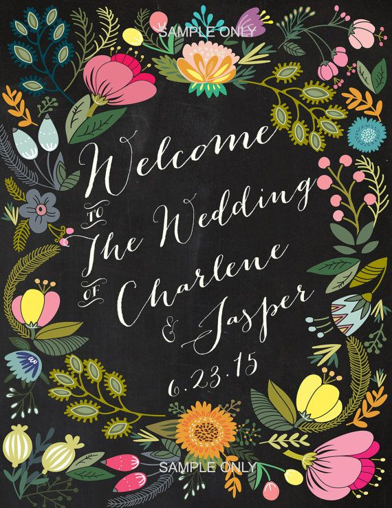 Wedding Welcome Sign Blossom printable welcome sign by Dantell, $15.00