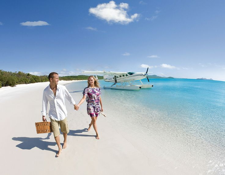 A seaplane flying you to a private beachside picnic location.