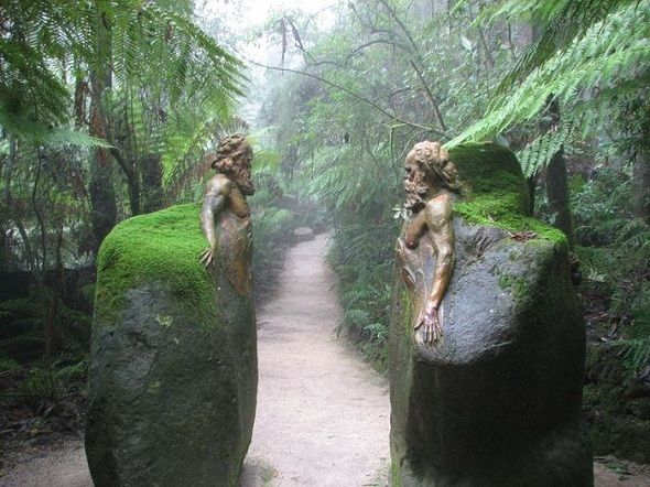 The mysterious sculptures of William Ricketts Sanctuary… Hidden deep in an Australian rainforest, the clay sculptures of William Ricketts express the Aborigines' deep connection with Mother Nature. The 92 intricate ceramic sculptures placed along the passageways seem as they are merging with the surrounding plant-life, thus expressing the strong bond Aborigines have always had with nature. Designed as a place where man's spirit becomes one with nature, William Ricketts Sanctuary inspires us…