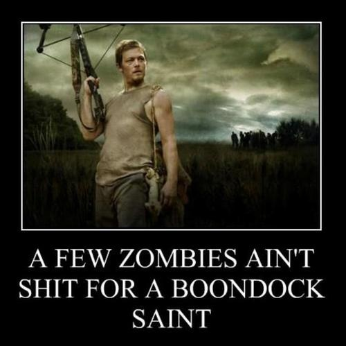 """Daryl Dixon, The Walking Dead @Rachel Edwards  I don't know if you watch Walking Dead but I KNOW you know Boondock Saints!  """"And Shepherd's we shall be...."""""""