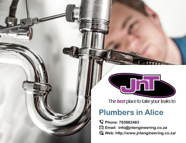 If you are trying to find an available #Plumber in @Alice then you can use our Jnt engineering service. All Plumbing & Leaks. Geyser Installations. Blocked Drains and any other #plumbing issues. http://bit.ly/2iCjJEQ