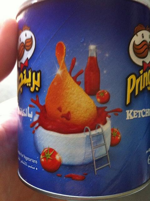 """""""Ketchup"""" flavored Pringles in Sharjah, UAE by APIstudyabroad, via Flickr"""