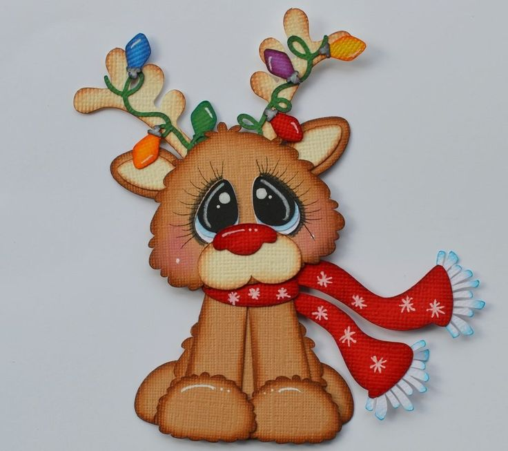 Paper Piecing Rudolph for Premade Scrapbook Page Layout Christmas CrafteCafe in Crafts | eBay