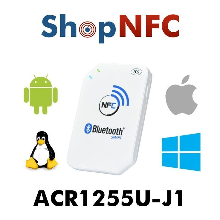 With Bluetooth Smart technology, ACR1255U-J1 easily connects wirelessly to any device running on Android™ 4.3 and later, iOS 5.0 and later, Windows® 7 and later,  and Mac OS® 10.7 and later.