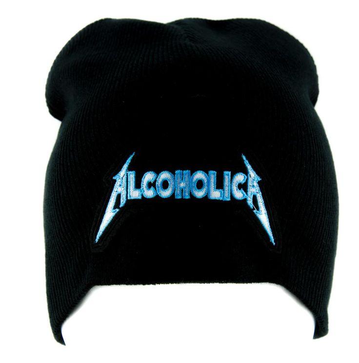 Alcoholica Metallica Spoof Beanie Alternative Clothing Knit Cap Heavy Metal Music  #metalchick #punksofinstagram #cybergothicgirl #industrialgirl #ebm #gothsofinstagram #rivethead #rave #witchy #punk