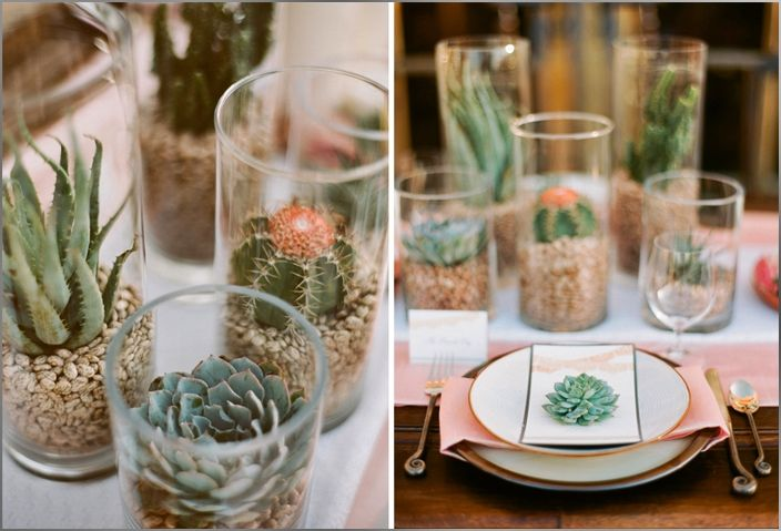 Scattering a few cacti in vases down the tables would be inexpensive and bring a little Mexican flair