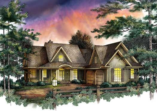 Cottage Style House Plans - 2968 Square Foot Home , 2 Story, 4 Bedroom and 3 Bath, 2 Garage Stalls by Monster House Plans - Plan 48-140