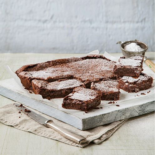 Looking for the perfect brownie recipe - a chocolate square that's glossy on top, and dense and fudgy in the centre? Look no further...