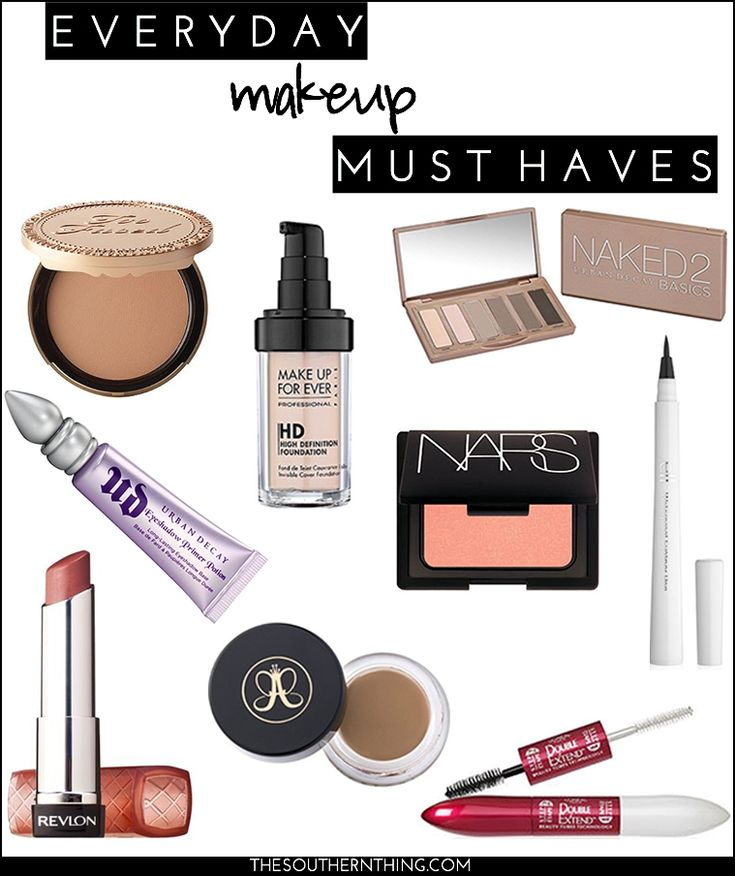 Everyday Makeup Must Haves.  If you don't have these in your makeup bag, you should!
