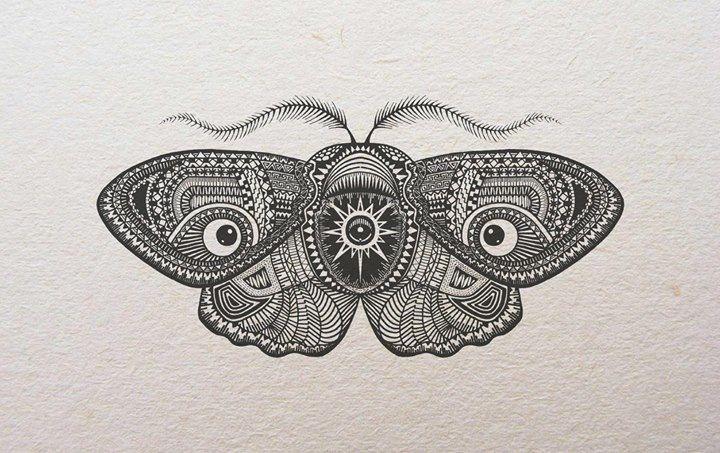 Moth tattoo design