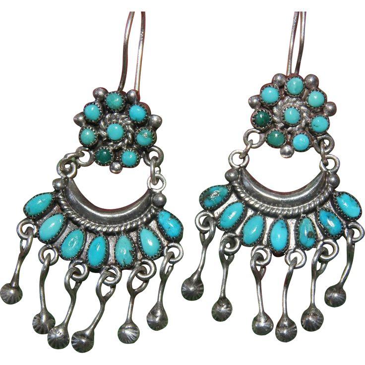 Vintage Zuni Earrings from uchizonogallery on Ruby Lane