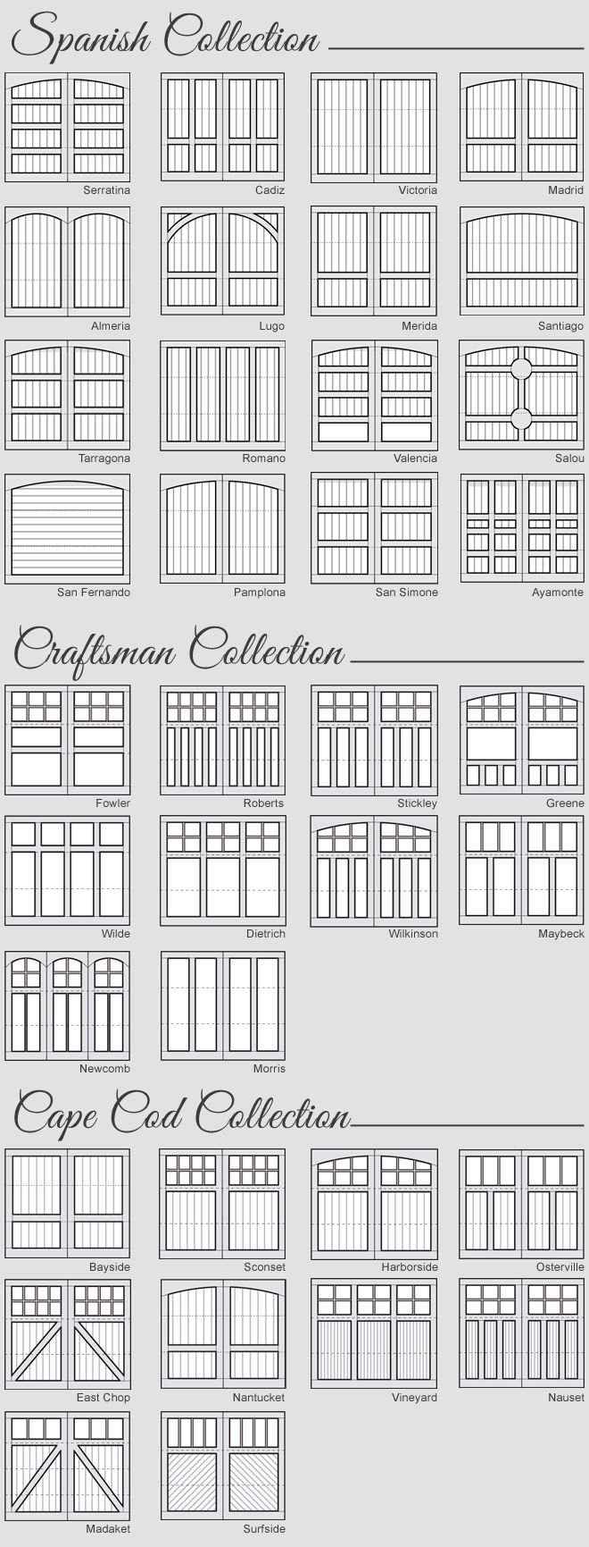 Arts and crafts style windows - Wood Garage Door Panel Design And Styles