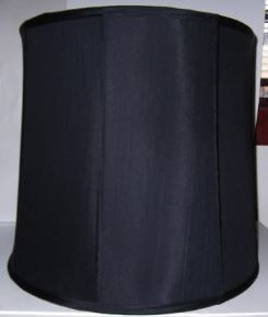 32113 Large Black Silk Lamp Shade  #student #replacement #silk #shades #floor #hurricanes #glass #diffusers #lampshades #lamp