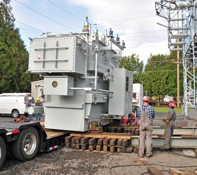 PUD Upgrades Transformer at Scappoose Substation — Columbia River PUD