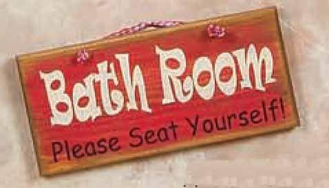 Rustic Bath Room Wood Sign [BLA-195-12-Red-BathRoom] : MyBarnwoodFrames.com | Barnwood Frames, Rustic Picture Frames, Rustic Mirrors & Home Decor