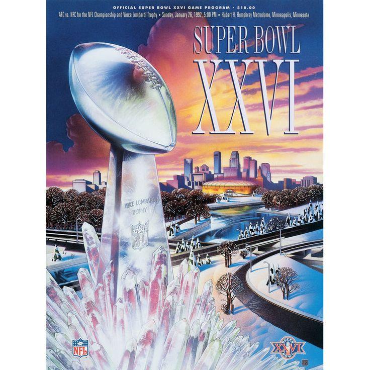 "Fanatics Authentic 1992 Redskins vs. Bills 22"" x 30"" Canvas Super Bowl XXVI Program"