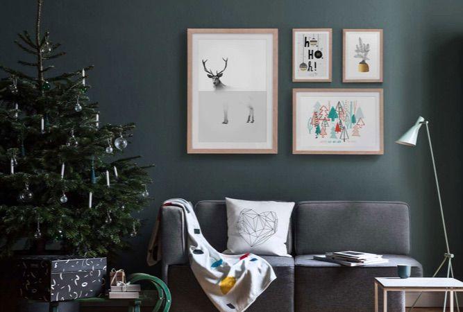 woonkamer decoratie ideeën voor kerstmis