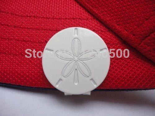 Бесплатная доставка морской еж мяч для гольфа маркер - вт / бонус магнитный Hat клип, 2 шт./лот