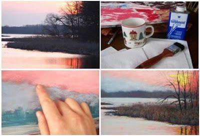 November Sunset - A Free Step by Step Pastel Landscape Tutorial by Christine Kane at ArtInstructionBlog.com