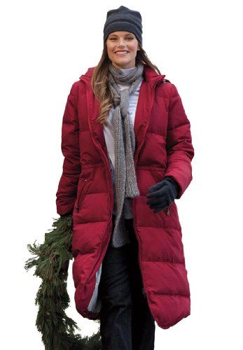 Woman Within Plus Size Coat, long length in lightweight feather down $99.99 (save $70.00)