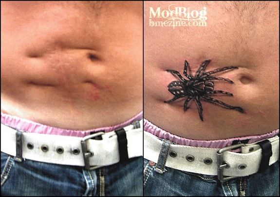 Amazing Scar-Covering #Tattoos.  Possibly the most clever scar-covering tattoo of all-time! We love how the indents in...