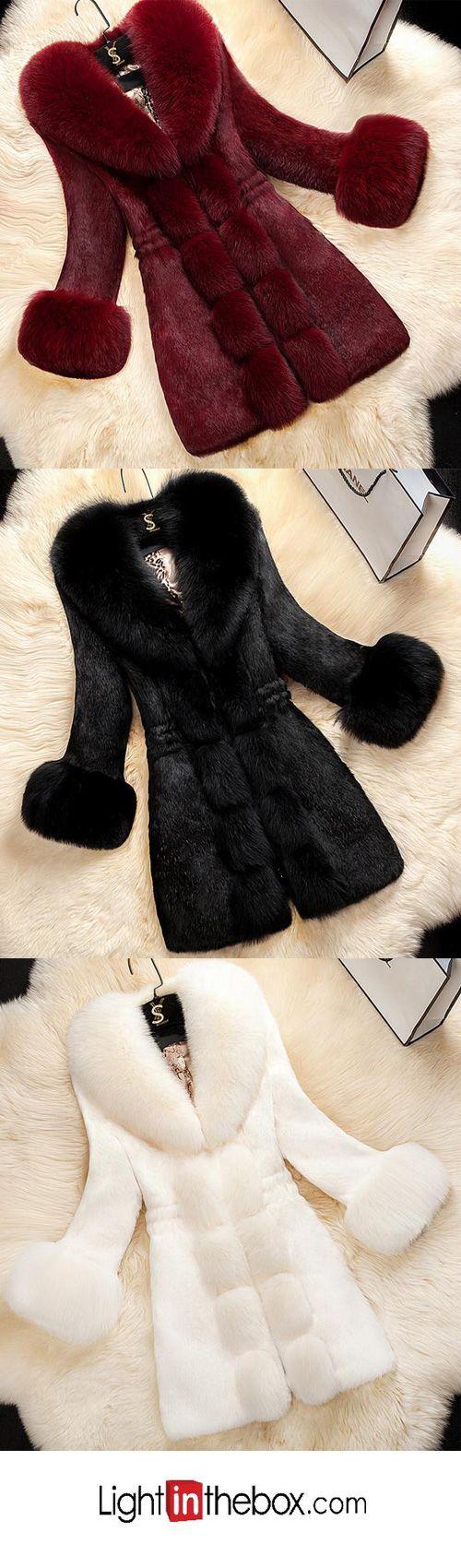 Women's New Year Festival Elegant & Luxurious Winter Fur Coat